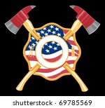firefighter cross with axes has ...