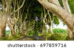 the dark hedges in armoy co.... | Shutterstock . vector #697859716