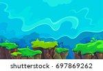 vector cartoon landscape | Shutterstock .eps vector #697869262