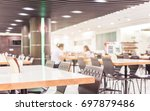 modern interior of cafeteria or ... | Shutterstock . vector #697879486