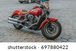 Motorcycle Indian Scout On The...