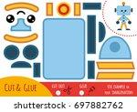 education paper game for... | Shutterstock .eps vector #697882762