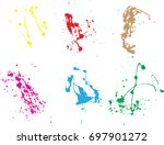 vector paint splatters.colorful ... | Shutterstock .eps vector #697901272