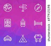 exploration outline icons set.... | Shutterstock .eps vector #697915198
