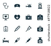 antibiotic icons set.... | Shutterstock .eps vector #697918822