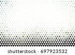 dark green vector geometric...   Shutterstock .eps vector #697923532