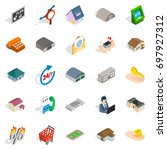 levy icons set. isometric set... | Shutterstock .eps vector #697927312