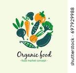 organic food.  logo concept for ...   Shutterstock .eps vector #697929988