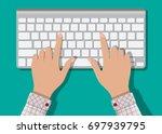 modern aluminum computer... | Shutterstock .eps vector #697939795