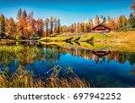 fantastic colors view of scin... | Shutterstock . vector #697942252