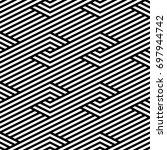 vector seamless pattern. modern ... | Shutterstock .eps vector #697944742