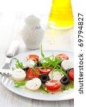 salad with mozzarella ...   Shutterstock . vector #69794827