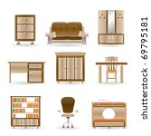 home and office furniture  ... | Shutterstock .eps vector #69795181