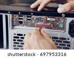 computer connectors  network... | Shutterstock . vector #697953316