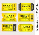 ticket set icon vector... | Shutterstock .eps vector #697960996
