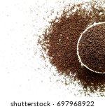 tea raw leaves | Shutterstock . vector #697968922