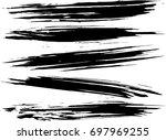 set of grunge brush strokes  | Shutterstock .eps vector #697969255