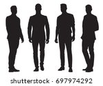 group of young business men ... | Shutterstock .eps vector #697974292