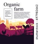 vector illustration of a farm... | Shutterstock .eps vector #697982662