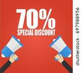 megaphone hand  special...   Shutterstock .eps vector #697988956