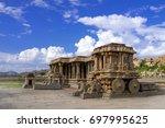 stone chariot in courtyard of... | Shutterstock . vector #697995625