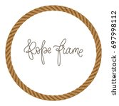 rope vector round frame  may... | Shutterstock .eps vector #697998112