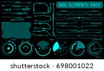 hud futuristic elements set by... | Shutterstock .eps vector #698001022