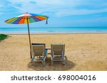 view at the beach sitting... | Shutterstock . vector #698004016