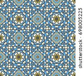 seamless ethnic vector... | Shutterstock .eps vector #698005225