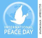 international peace day. peace...   Shutterstock .eps vector #698012755