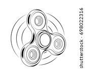 fidget spinner icon   toy for... | Shutterstock .eps vector #698022316
