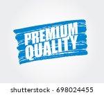 premium quality. pen marker.... | Shutterstock .eps vector #698024455