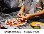 italian food cooking pizza | Shutterstock . vector #698024926