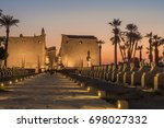 the ancient luxor temple  luxor ... | Shutterstock . vector #698027332