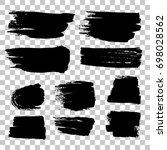 grunge black rough brush... | Shutterstock . vector #698028562