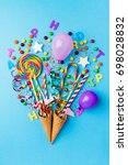 tasty appetizing party...   Shutterstock . vector #698028832