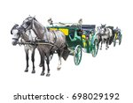 Two Old Carriages Pulled By A...