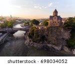 tbilisi capital of georgia.... | Shutterstock . vector #698034052