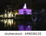 Trafalgar Square Fountain At...