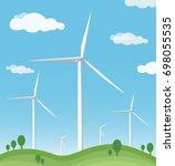 wind turbine vector | Shutterstock .eps vector #698055535