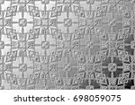black and white relief convex... | Shutterstock . vector #698059075