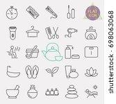 beauty line icon set | Shutterstock .eps vector #698063068