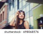 fashion portrait of amazing... | Shutterstock . vector #698068576