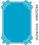 frame border label page vector... | Shutterstock .eps vector #698070286