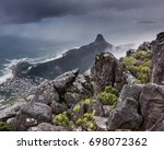 lion's head and robben island... | Shutterstock . vector #698072362