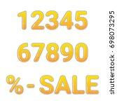 vector set of golden metallic...   Shutterstock .eps vector #698073295