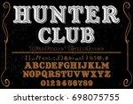 font script typeface vector...   Shutterstock .eps vector #698075755