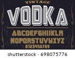 font.alphabet.script.typeface...   Shutterstock .eps vector #698075776