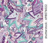 tracery seamless pattern.... | Shutterstock .eps vector #698076022
