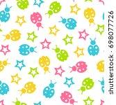 seamless vector wallpaper color ... | Shutterstock .eps vector #698077726